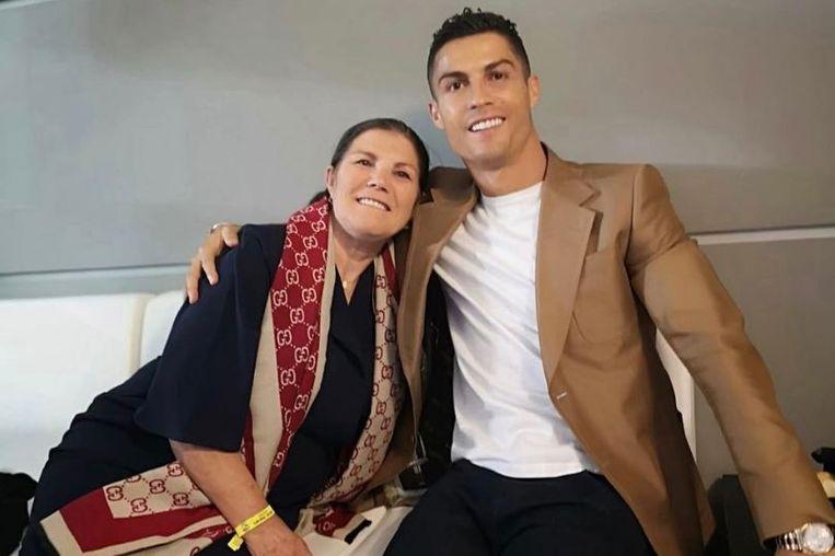 Ronaldo en zijn moeder, Dolores Aveiro.