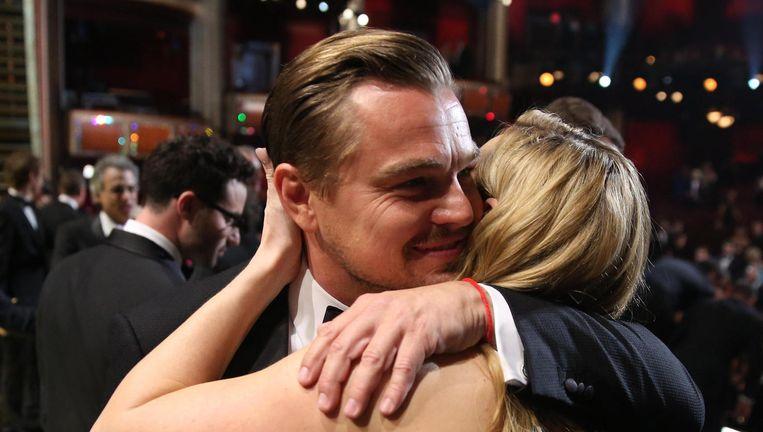 Leonardo DiCaprio en Kate Winslet in 2016. Beeld Matt Sayles/Invision/AP