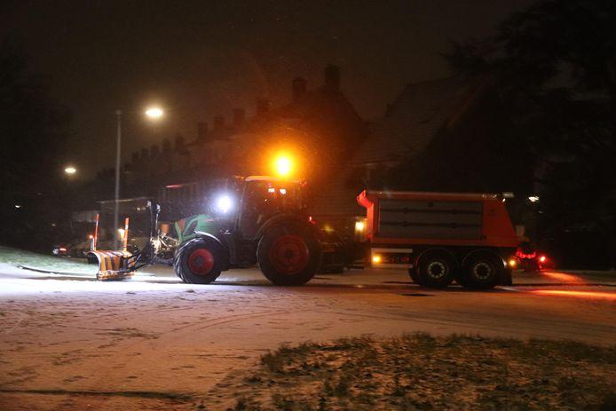 Sneeuw in Alteveer in Arnhem.