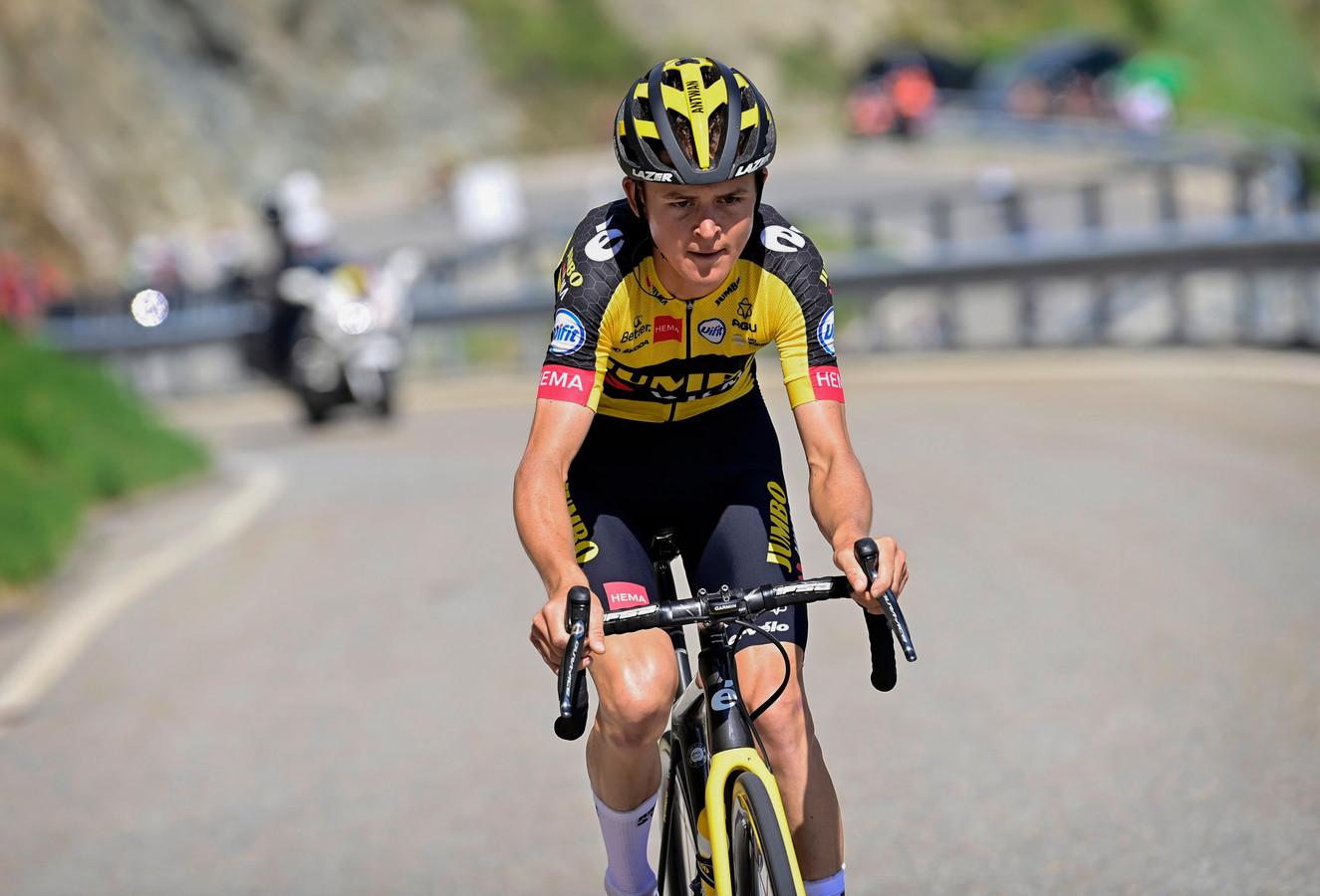 Antwan Tolhoek tijdens de Ronde van Zwitserland van dit jaar.