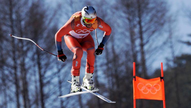 Aksel Lund Svindal (35) vliegt donderdag op de afdaling naar de eerste plaats. Beeld Luca Bruno / AP