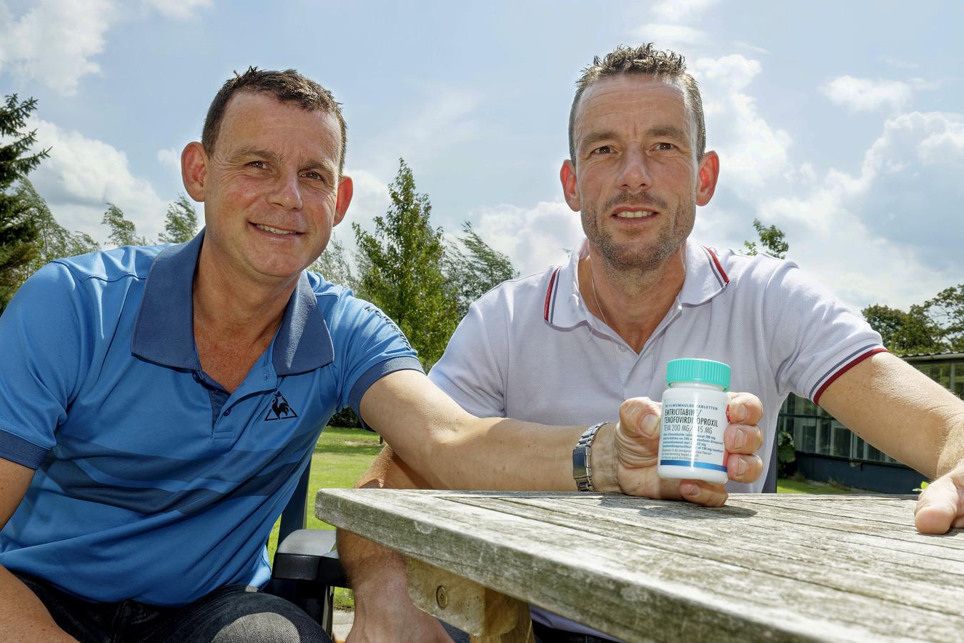 Peter van Dijk (links) en Marcel Veltmaat uit Haaren.
