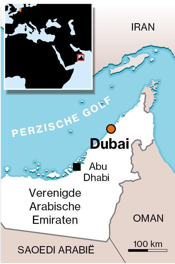 Kaartje van Dubai
