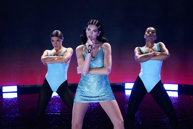 Dua Lipa maakt onder meer kans op de Grammy voor album van het jaar met haar disco-opus 'Future Nostalgia'.  Beeld Getty Images for dcp