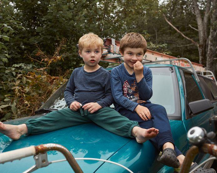 De zoons van Heidi Kelley gaan sinds corona niet meer naar school.