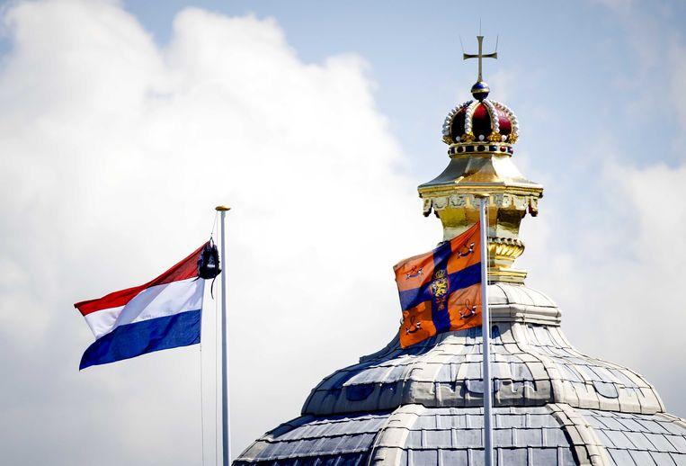 De vlag hangt uit voor prinses Amalia. Beeld Sem van der Wal /ANP