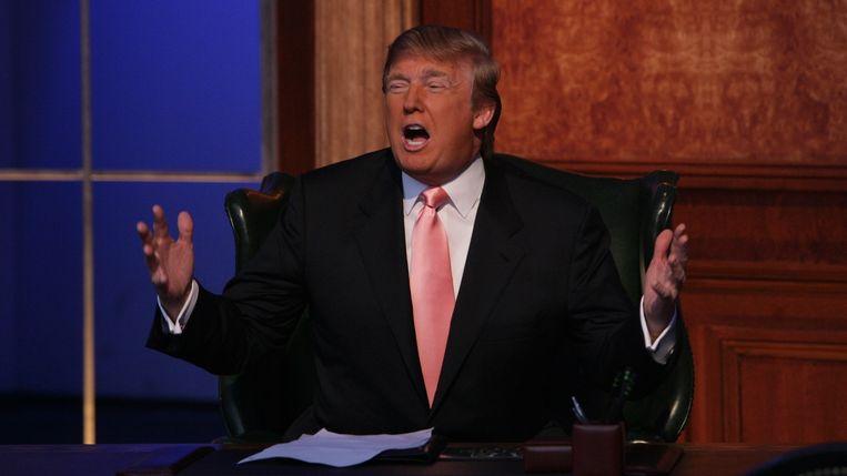 Als presentator van 'The Apprentice' liet Trump voor 70.000 dollar kappersonkosten van zijn belastingen aftrekken. Beeld NBC