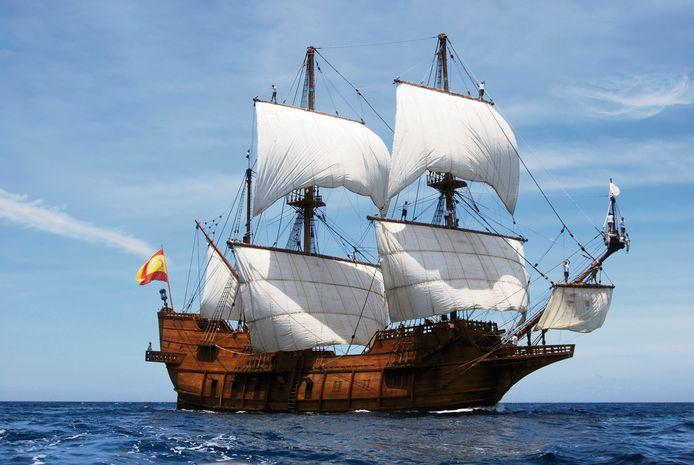 De El Galeon komt naar Middelburg.