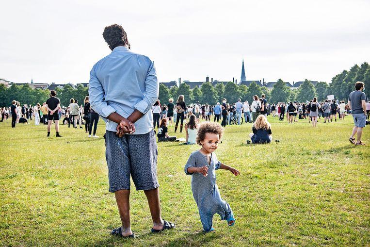 Bijeenkomst van Black Lives Matter op het Malieveld in Den Haag, juni vorig jaar.  Beeld Guus Dubbelman / de Volkskrant