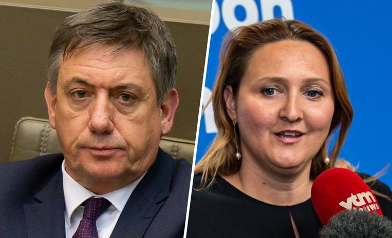 Jan Jambon en Gwendolyn Rutten.