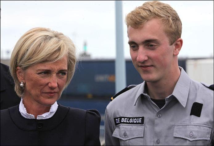 Le prince Joachim, en compagnie de sa mère, la princesse Astrid (archives, 2017)
