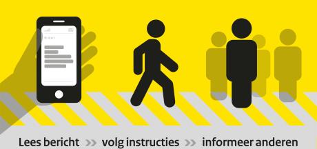 NL-Alert in Overijssel maandag voor het eerst via digitale vertrekborden en reclamezuilen