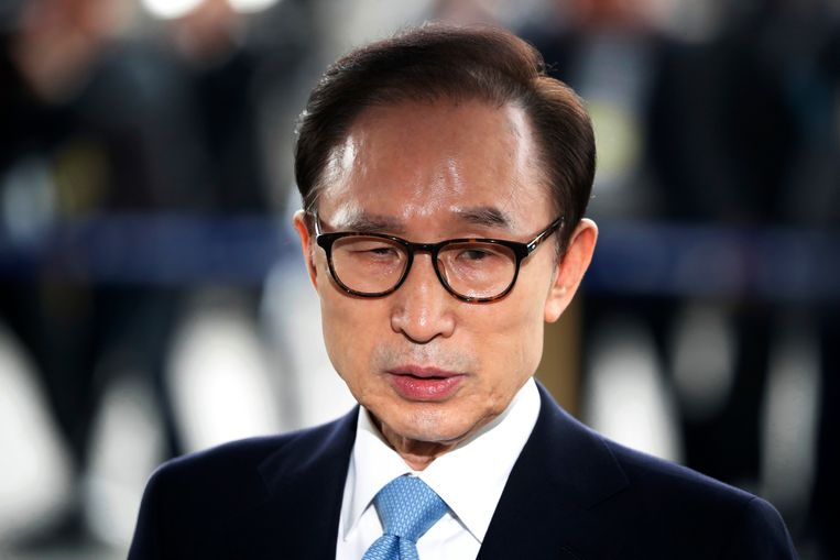 Oud-presdient Lee Myung-bak van Zuid-Korea. Beeld AP