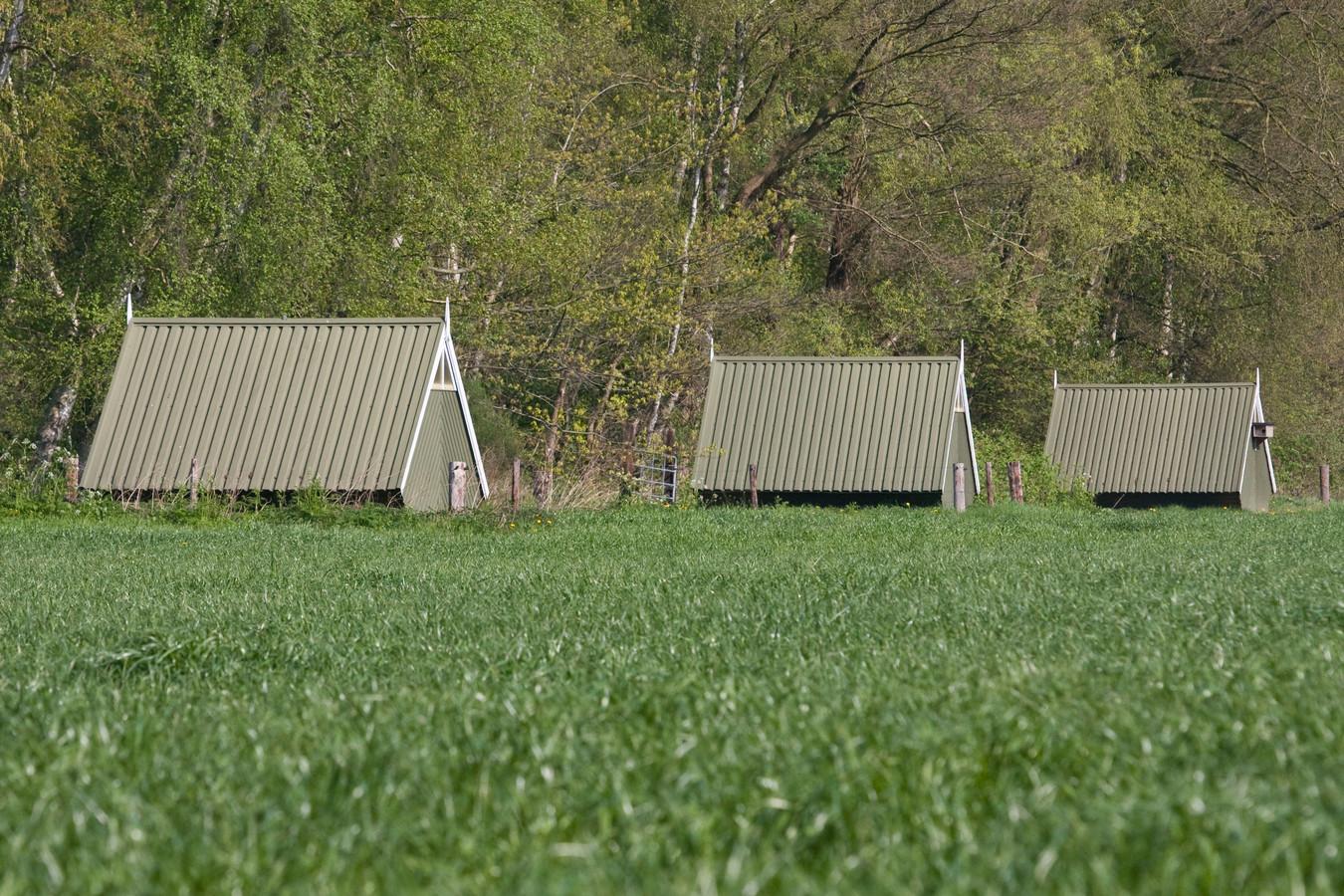 De bekende zouthuisjes. Nieuwe zouthuisjes in Haaksbergen moeten zorgvuldig worden ingepast in het landschap, aldus de gemeente.