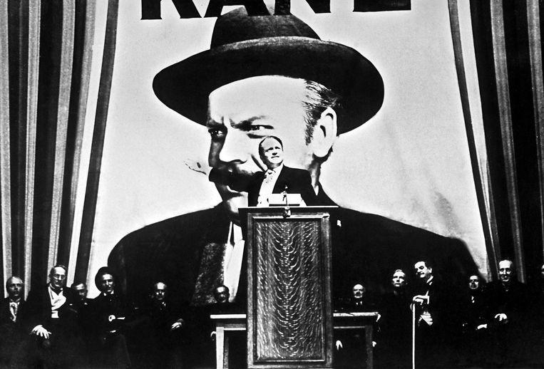 Een foto van tijdens de opnames van 'Citizen Kane'. De beste film ooit? Beeld EPA