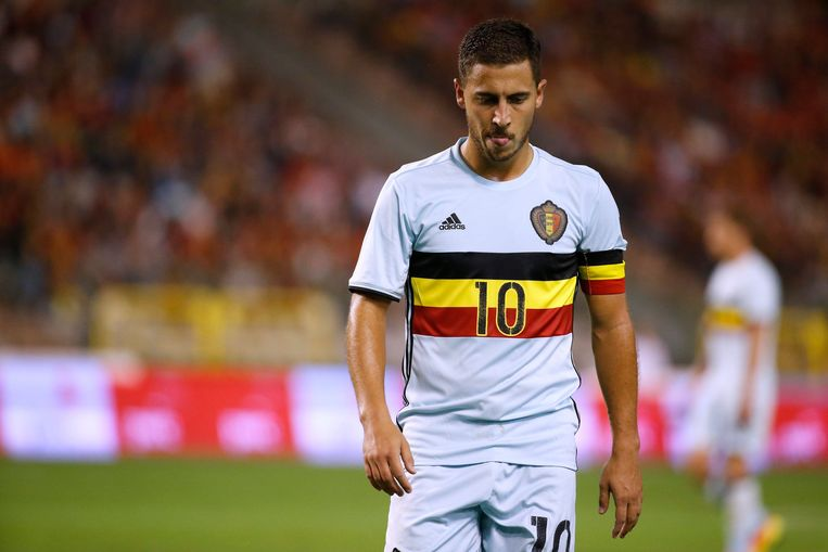 BRUSSELS, BELGIUM - SEPTEMBER 01:  Eden Hazard midfielder of Belgium during a FIFA international friendly match between Belgium and Spain at the King Baudouin Stadium on september 01, 2016 in Brussels, Belgium , 01/09/2016 ( Photo by Jimmy Bolcina / Photonews Beeld null