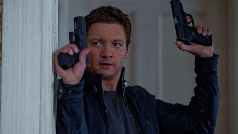 Jeremy Renner als spion Aaron Cross in The Bourne legacy. Beeld
