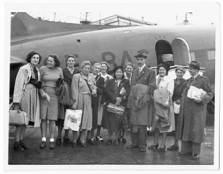 1945: Na de oorlog keert Selma terug naar Nederland via Malmö.  Beeld Privéarchief
