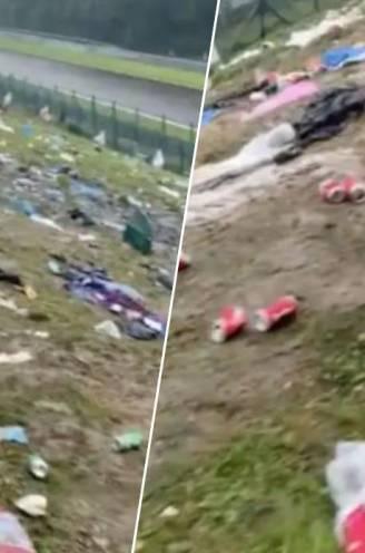 Gefrustreerde F1-fans laten tribunes Francorchamps in schabouwelijke staat achter