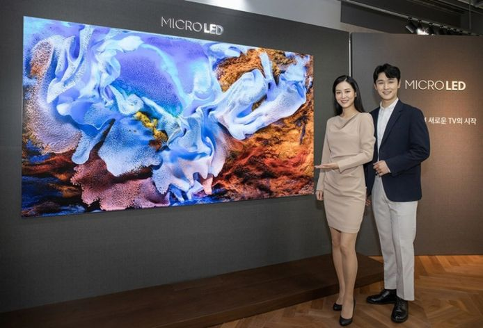 Het microled-scherm van Samsung.