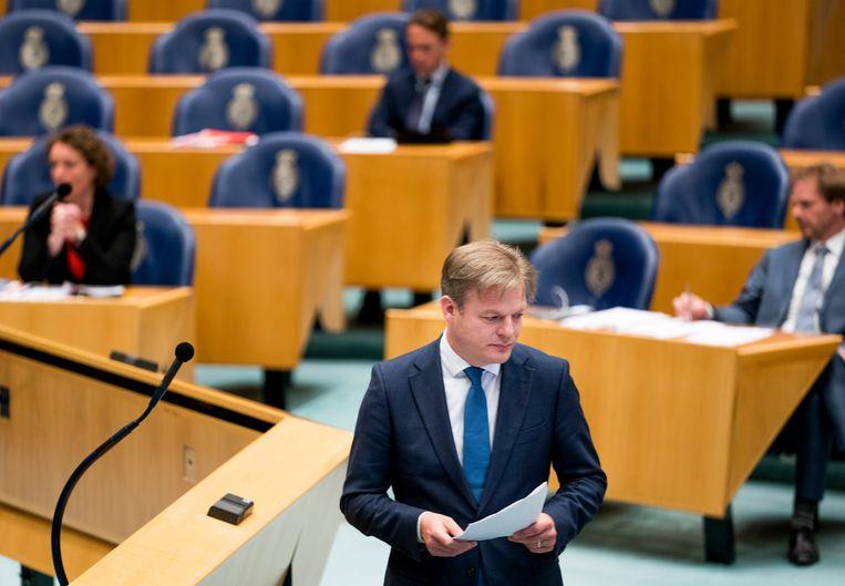 Pieter Omtzigt (CDA) tijdens een debat over de toeslagenaffaire. Beeld Freek van den Bergh / de Volkskrant