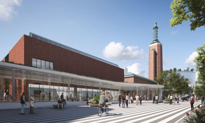 Het Museum Boijmans Van Beuningen zoals het moet worden volgens de ontwerpen van architect Francine Houben.