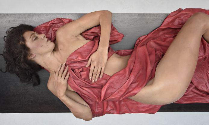 L'une des sculptures hyperréalistes de cette exposition exceptionnelle.