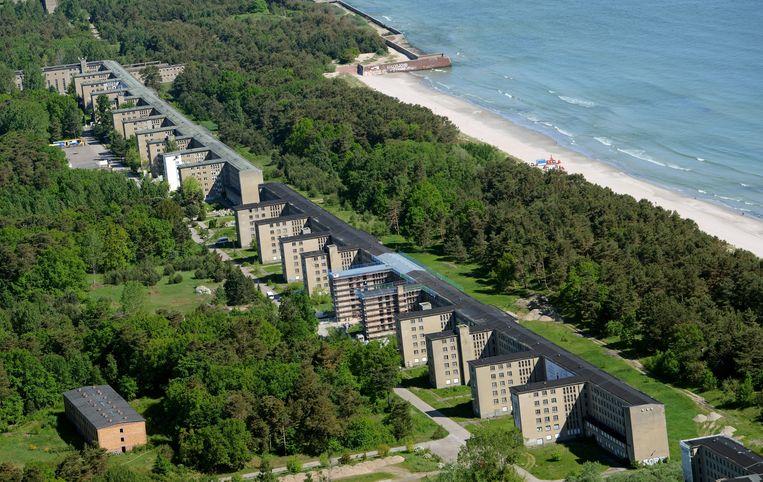 Een deel van het 4,5 kilometer lange complex aan de Baltische Zee. Beeld epa
