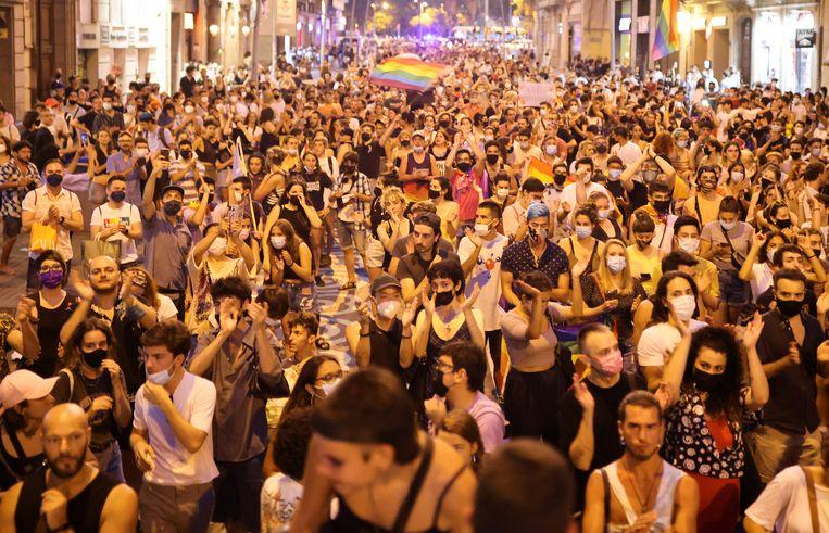 Protesten in Barcelona Beeld REUTERS