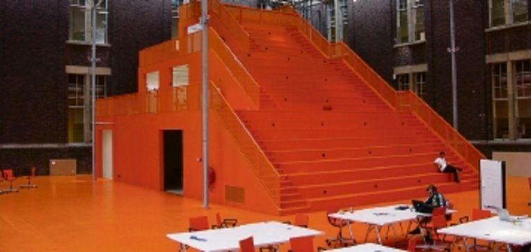 De oostserre, Faculteit Bouwkunde TU, Delft. Ontwerp MVRDV. ( FOTO: JASPER VAN ZWOL) Beeld