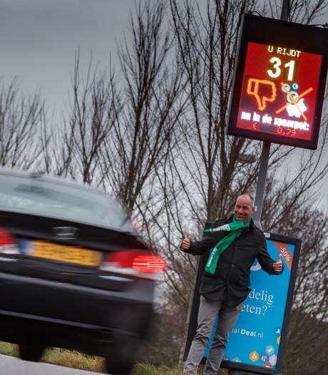 Snelheidsmeter Hooge Zwaluwe levert geld en langzamer verkeer op