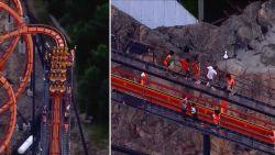 Achtbaanbezoekers zitten 2 uur vast op 30 meter hoogte