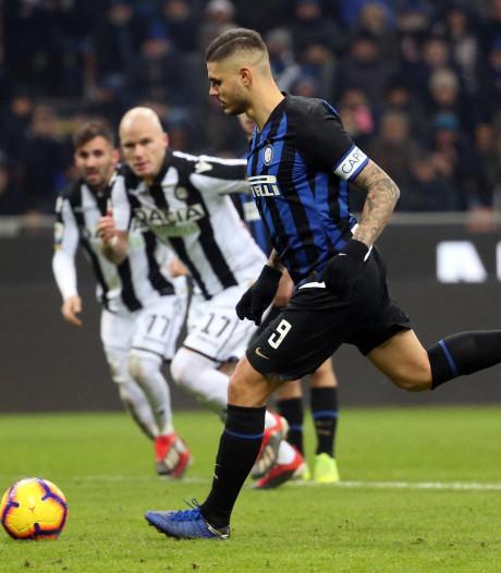 Inter verstevigt derde plaats dankzij fraaie Panenka Icardi