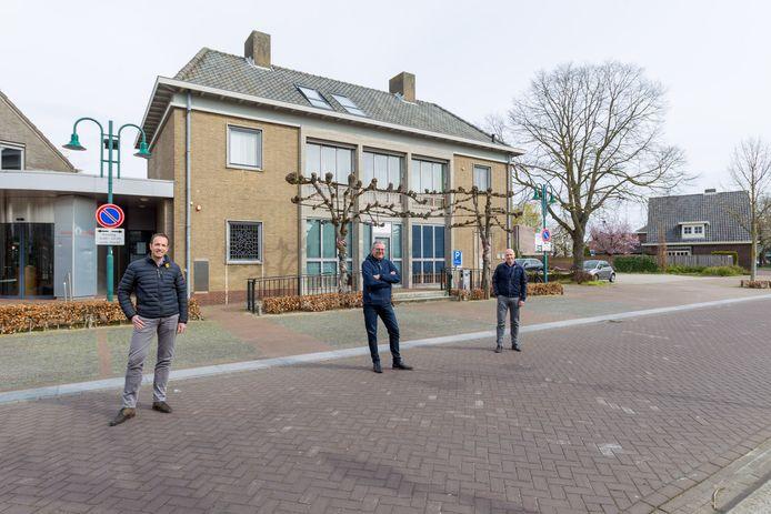 Initiatiefnemers (v.l.n.r.) Erik Caelen, Twan van Bommel en Marc Janssen van Stichting Plan Lieshout.
