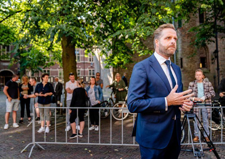 Demissionair minister Hugo de Jonge op het Binnenhof. Beeld ANP