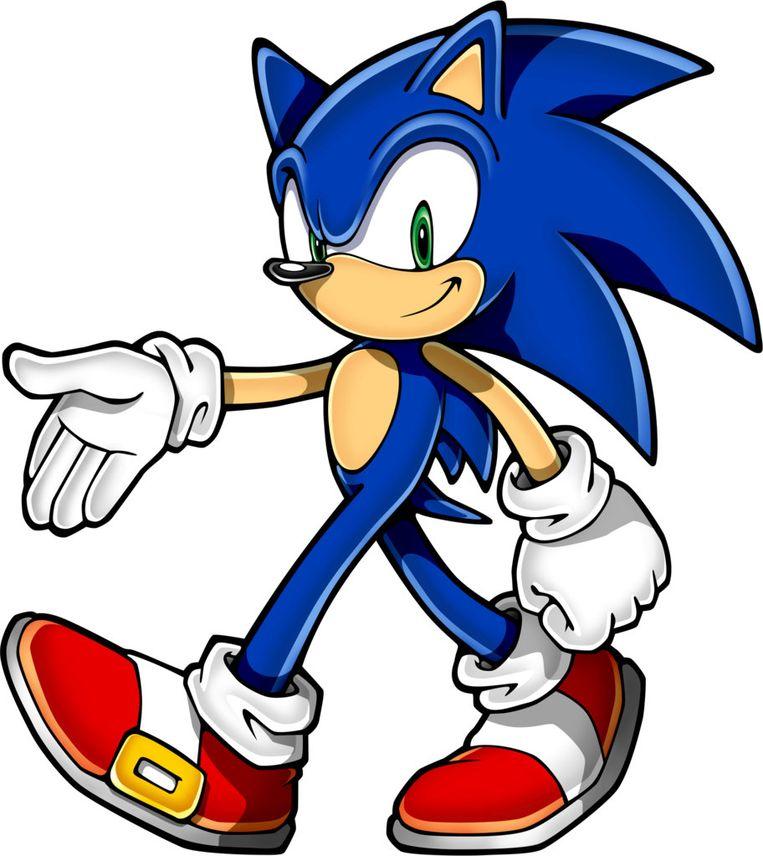 De alom bekende 'Sonic the hedgehog' met felblauwe stekels. Reporters / SWNS