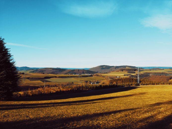 Uitgestrekte landschappen in het Duitse Sauerland, op slechts drie uur rijden van de Belgische grens.