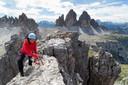 In de Dolomieten nam Marion de klettersteig van De Toblinger Knoten om het panorama te fotograferen.