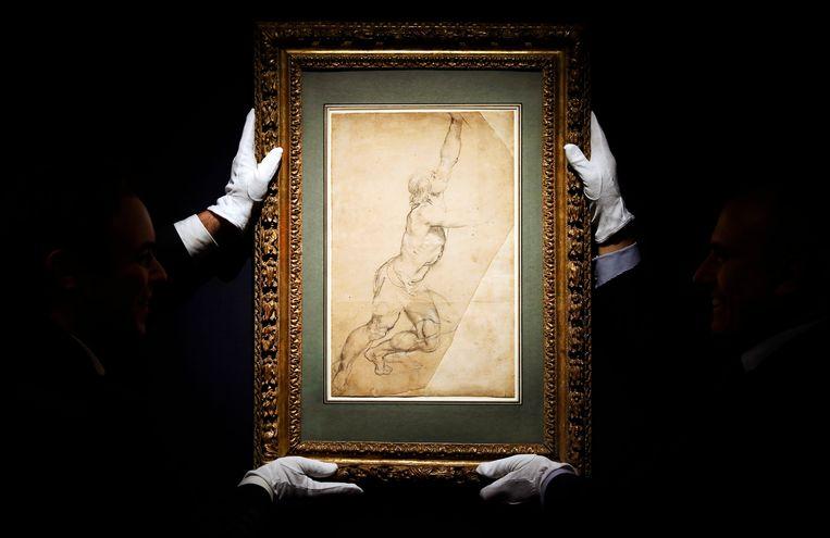 De schets van Rubens die in 2019 door prinses Christina op een veiling in New York werd verkocht.  Kunstliefhebbers waren boos omdat het werk niet eerst aan Nederlandse musea was aangeboden. Beeld EPA