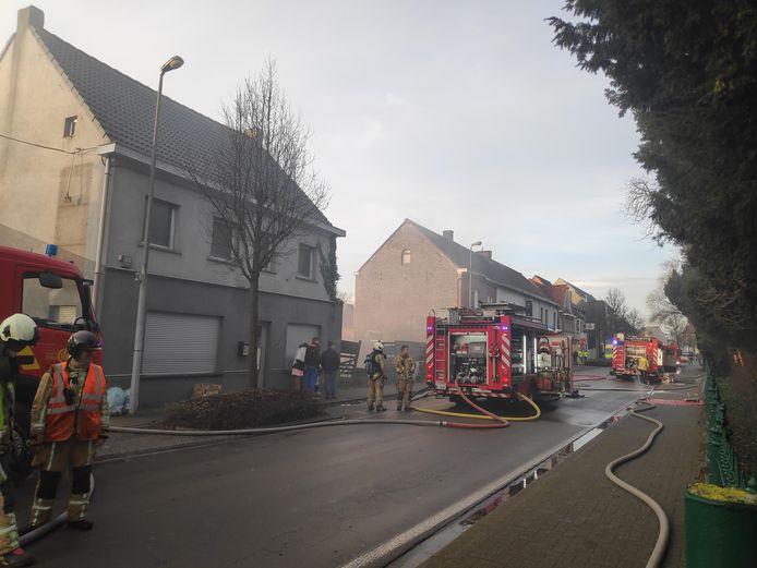 De brandweerzone Centrum rukte uit met drie wagens.