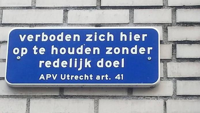 In Utrecht moet je natuurlijk wel een redelijk doel hebben om ergens te mogen zijn.