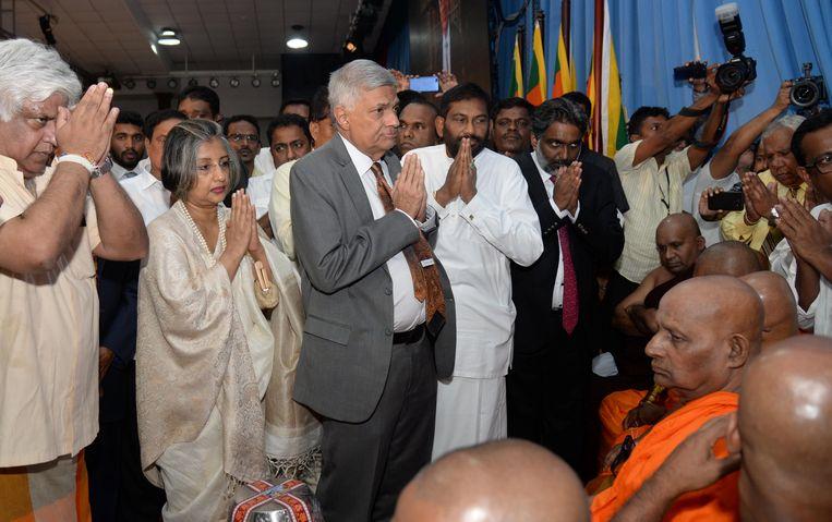 Ranil Wickremesinghe in Colombo, Sri Lanka. Beeld REUTERS