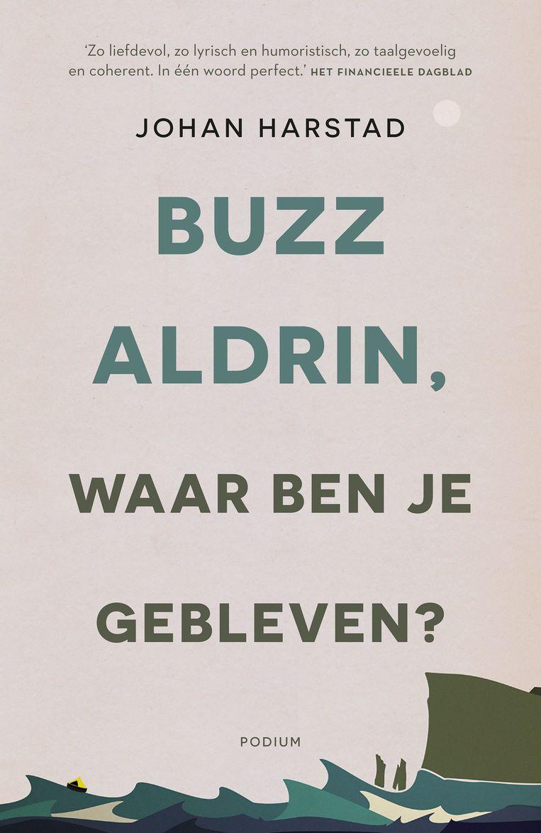 Buzz Aldrin, waar ben je gebleven? Ontwerp Johan Harstad, 2017 (herdruk). Beeld Podium