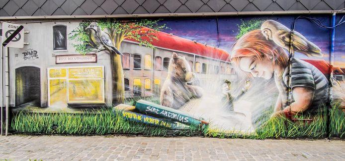 Rechts Berke den Hottentot, links café Rust der Werklieden