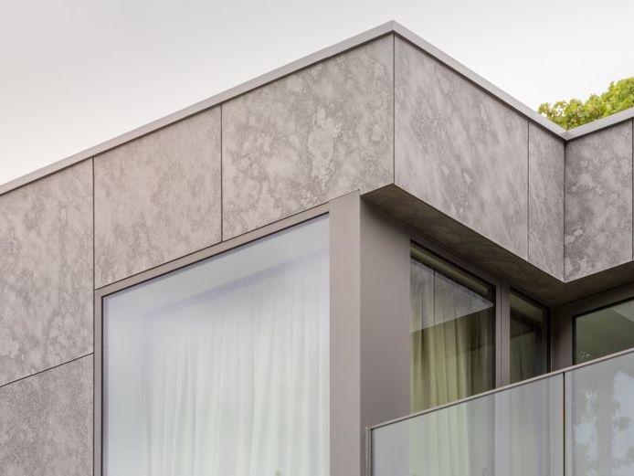 Il existe également des panneaux de façade en fibres-ciment. Leur aspect élégant offre de nombreuses possibilités.
