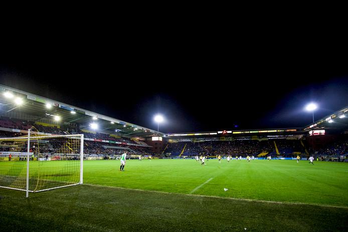 BREDA  NAC Breda - SC Telstar voetbal Jupiler league, seizoen 2015-2016, 30-11-2015, Rat verlegh stadion,  uitslag 2-1. overzicht sfeer foto NAC. Veel publiek op maandag.