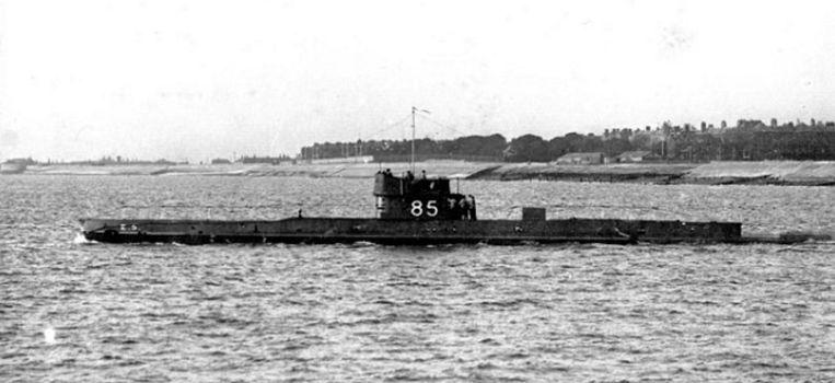 De E5. Op de commandotoren zie je ook het identificatienummer 85. Beeld rv