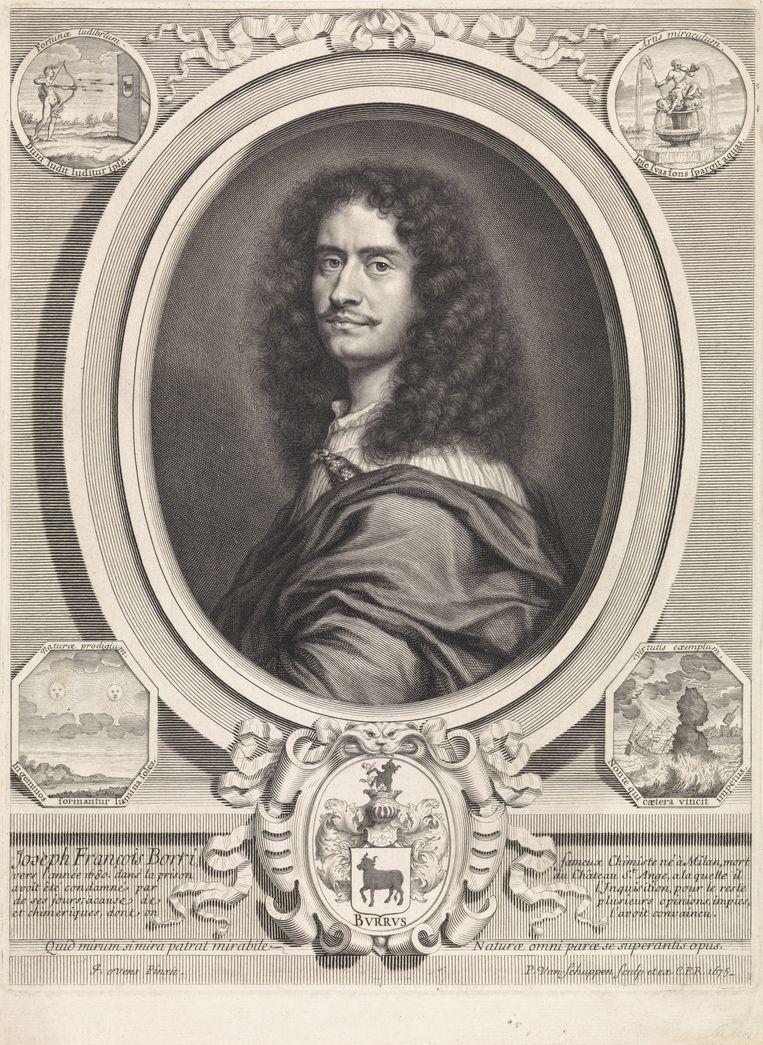 Portret van Giuseppe Francesco Borri, uit 1675. Beeld Rijksmuseum