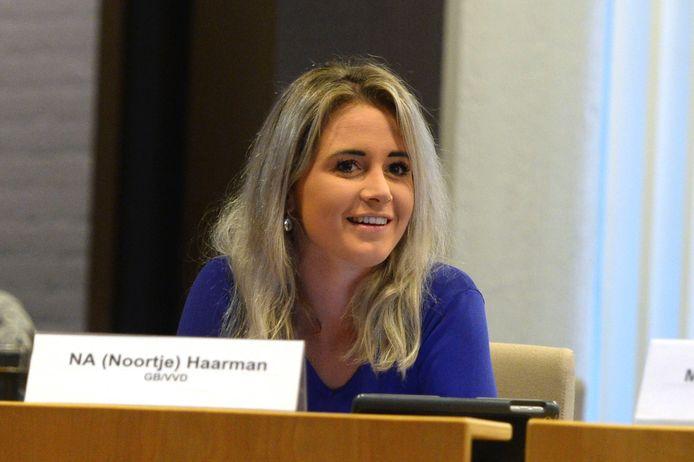 Fractievoorzitter Noortje Haarman van GB/VVD: trots dat we dit als kleine partij hebben bereikt.