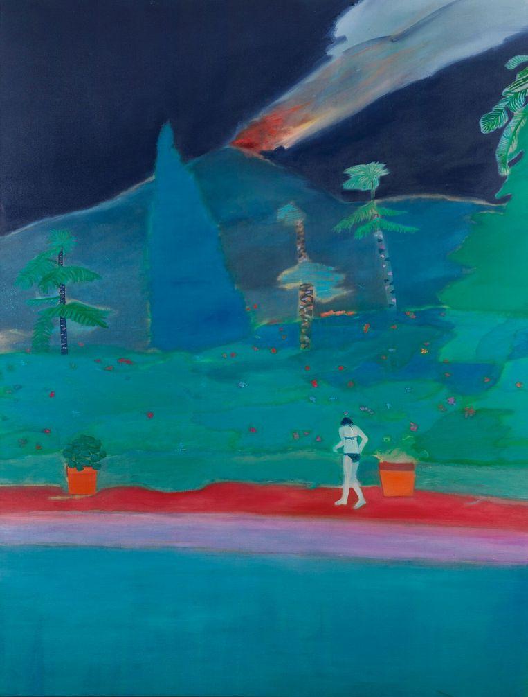 'De schilderijen van Tom Hammick spreken me aan: grote, kleurrijke en melancholische doeken.' Beeld Smoke II – Tom Hammick, Flowers Gallery London en New York, Bridgeman Images 2018